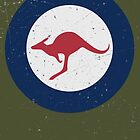 Vintage Look Royal Australian Air Force Roundel  by VintageSpirit