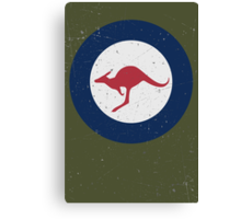 Vintage Look Royal Australian Air Force Roundel  Canvas Print