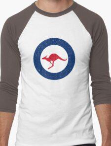 Vintage Look Royal Australian Air Force Roundel  Men's Baseball ¾ T-Shirt