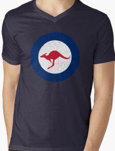 Vintage Look Royal Australian Air Force Roundel  Mens V-Neck T-Shirt