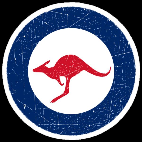 Vintage Look Royal Australian Air Force Roundel  by VintageSpirit