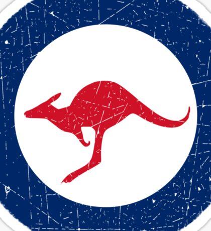 Vintage Look Royal Australian Air Force Roundel  Sticker