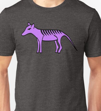 Living the dream with a purple Thylacine Unisex T-Shirt