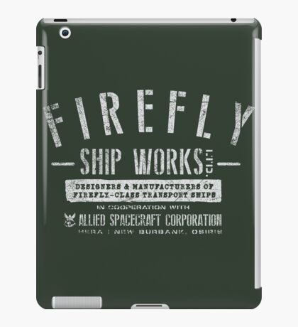 Firefly Ship Works iPad Case/Skin