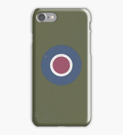 Vintage Look WW2 British Royal Air Force Roundel iPhone Case/Skin