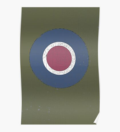 Vintage Look WW2 British Royal Air Force Roundel Poster