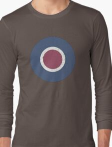 Vintage Look WW2 British Royal Air Force Roundel Long Sleeve T-Shirt