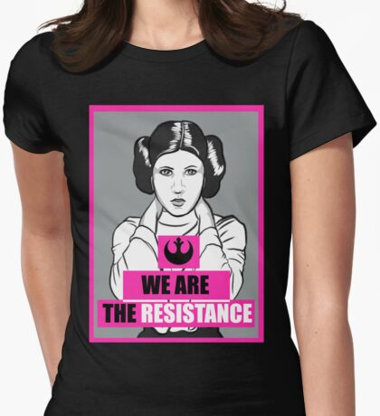 We Are The Resistance Womens Fitted T-Shirt