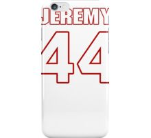 NFL Player Jeremy Cain fortyfour 44 iPhone Case/Skin