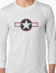 Vintage Look US Forces Roundel 1943 Long Sleeve T-Shirt