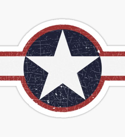 Vintage Look US Forces Roundel 1943 Sticker