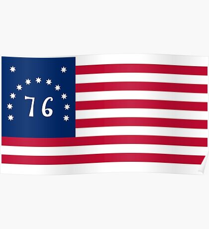 American 1776 Bennington flag - Authentic scale and color Poster