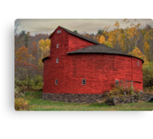 Red Round Barn Canvas Print