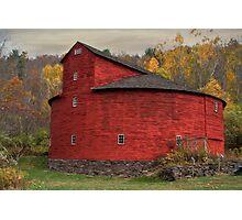 Red Round Barn Photographic Print