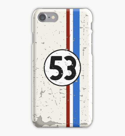 Vintage Look 53 Car Race Number Graphic iPhone Case/Skin