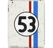 Vintage Look 53 Car Race Number Graphic iPad Case/Skin
