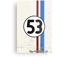 Vintage Look 53 Car Race Number Graphic Metal Print