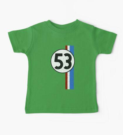 Vintage Look 53 Car Race Number Graphic Baby Tee