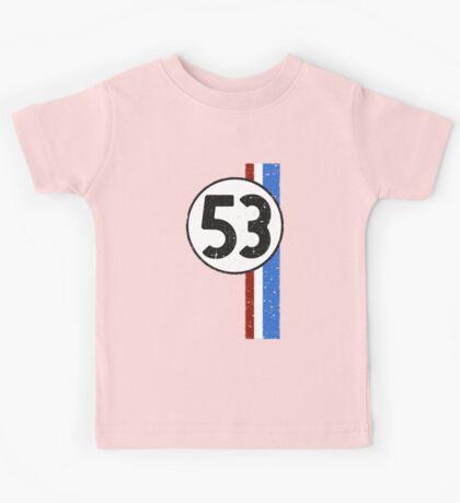 Vintage Look 53 Car Race Number Graphic Kids Tee