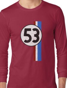Vintage Look 53 Car Race Number Graphic Long Sleeve T-Shirt