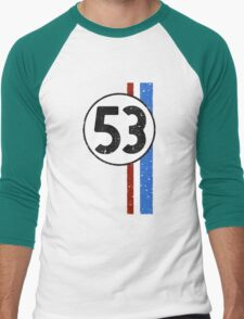 Vintage Look 53 Car Race Number Graphic Men's Baseball ¾ T-Shirt