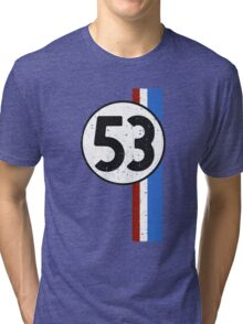 Vintage Look 53 Car Race Number Graphic Tri-blend T-Shirt
