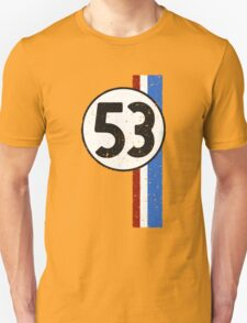 Vintage Look 53 Car Race Number Graphic Unisex T-Shirt