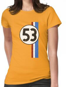Vintage Look 53 Car Race Number Graphic Womens Fitted T-Shirt