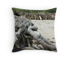 Tree, old woman of the sea. Throw Pillow