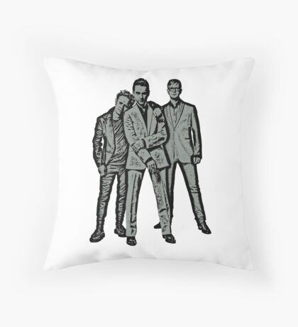 Music design inspired by Depeche Mode and Dave Gahan, Martin Gore & Andy Fletcher. Throw Pillow