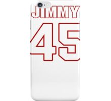 NFL Player Jimmy Gaines fortyfive 45 iPhone Case/Skin