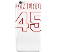 NFL Player Cameron Gordon fortyfive 45 iPhone Case/Skin