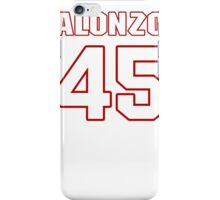 NFL Player Alonzo Highsmith fortyfive 45 iPhone Case/Skin