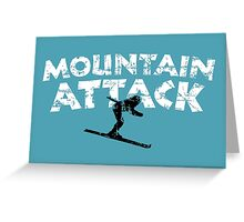 Mountain Attack Winter Sports Ski Design (B&W) Greeting Card