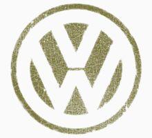 Vintage Look Volkswagen Logo Design Kids Tee
