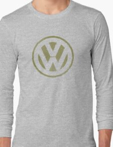 Vintage Look Volkswagen Logo Design Long Sleeve T-Shirt