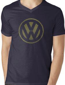 Vintage Look Volkswagen Logo Design Mens V-Neck T-Shirt