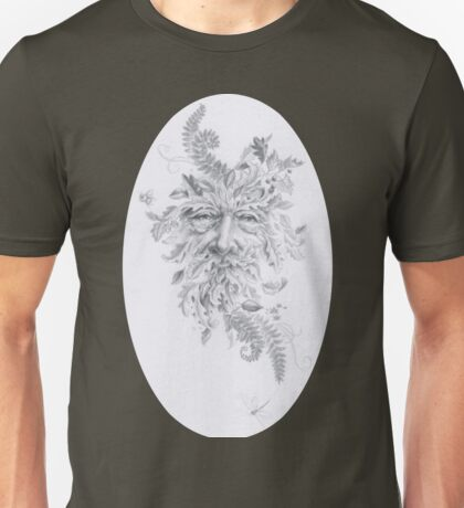 Silverpoint Drawing of the Greenman Unisex T-Shirt