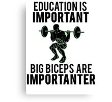 Funny Lifting Gym Canvas Print