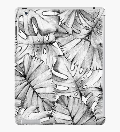 Graphic pattern with monstera leaves. iPad Case/Skin