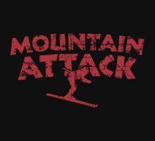 Mountain Attack Winter Sports Ski Design (Red) T-Shirt