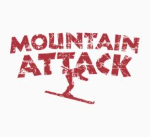 Mountain Attack Winter Sports Ski Design (Red) One Piece - Short Sleeve