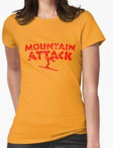 Mountain Attack Winter Sports Ski Design (Red) Womens Fitted T-Shirt