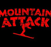 Mountain Attack Winter Sports Ski Design (Red) by theshirtshops