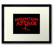 Mountain Attack Winter Sports Ski Design (Red) Framed Print