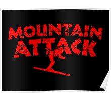 Mountain Attack Winter Sports Ski Design (Red) Poster