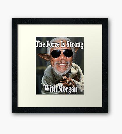 Jedi Morgan Freeman Framed Print