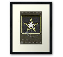 Vintage Look US Army Star Logo  Framed Print