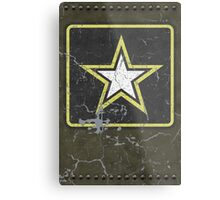 Vintage Look US Army Star Logo  Metal Print