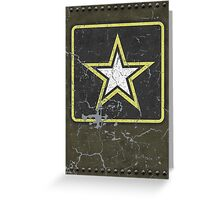 Vintage Look US Army Star Logo  Greeting Card